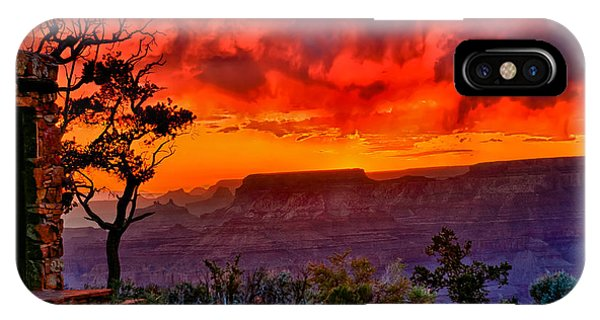 Stormy Sunset At The Watchtower IPhone Case