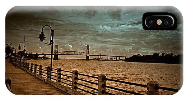 Stormy Wilmington Riverwalk  IPhone Case