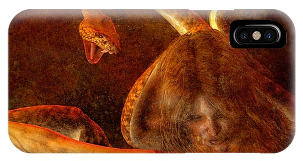 Gorgon iPhone Case - Story Of Eve by Bob Orsillo