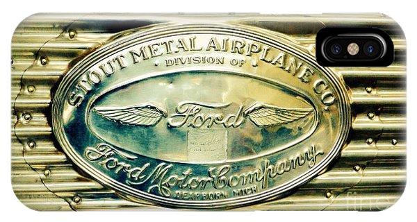 Stout Metal Airplane Co. Emblem IPhone Case