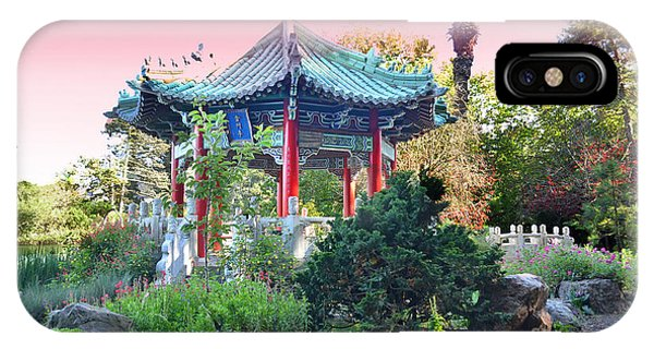 Stow Lake Pagoda In Golden Gate Park In San Francisco Phone Case by Jim Fitzpatrick