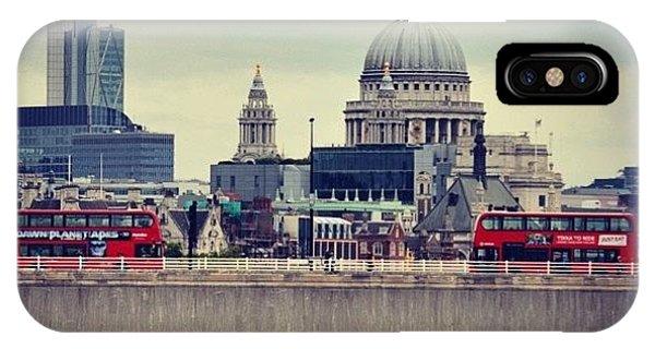 London Bridge iPhone Case - #stpauls #london by Mike Fletcher