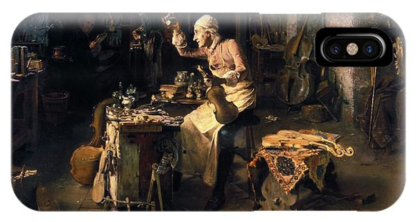 Woodworking iPhone Case - Stradivari's Violin Workshop by Patrick Landmann