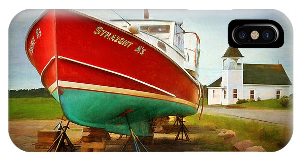 Straight A's  Beals Deals Island  Maine Phone Case by Dave Higgins