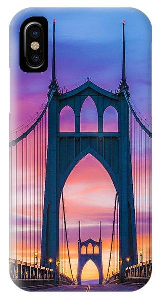 Straight Down The Bridge IPhone Case