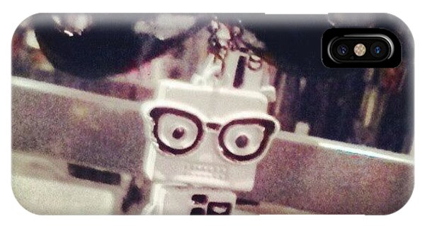 #strange #cute #quirky #robot IPhone Case