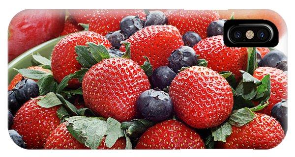 Strawberries Blueberries Mangoes - Fruit - Heart Health IPhone Case