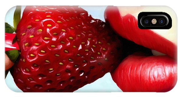 Strawberry And Lips IPhone Case