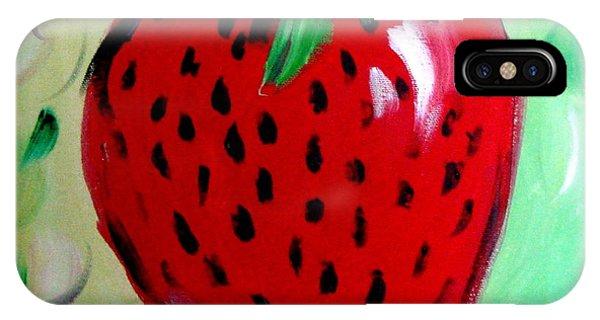 Strawberry Phone Case by Cynthia Hudson