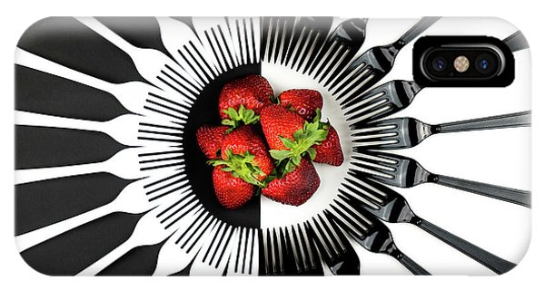Red Fruit iPhone Case - Strawberry Designs by Mike Melnotte