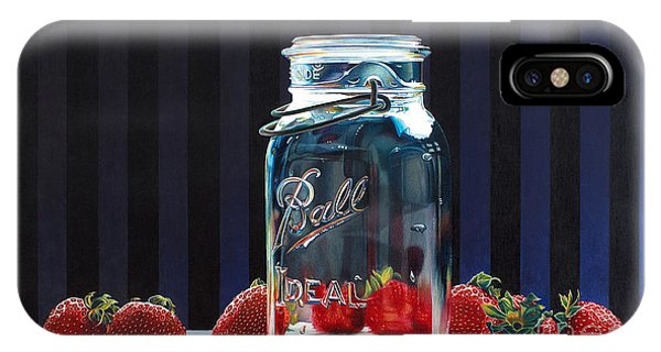 Strawberry Jam Phone Case by Arlene Steinberg