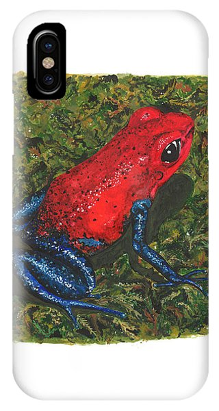 Strawberry Poison Dart Frog IPhone Case