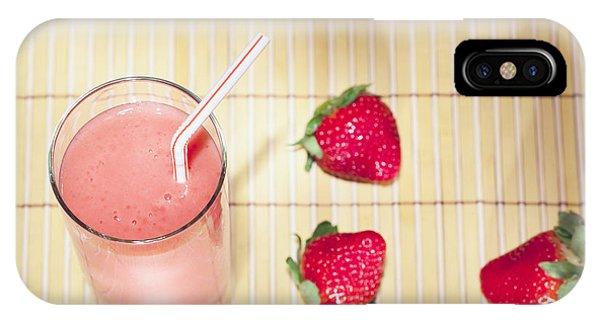 Smoothie iPhone Case - Strawberry Smoothie by Alexey Stiop