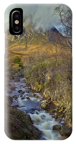 Stream Below Buachaille Etive Mor IPhone Case