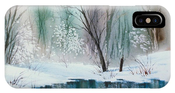 Stream Cove In Winter IPhone Case