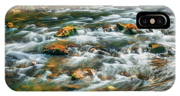 Stream Fall Colors Great Smoky Mountains Painted  IPhone Case