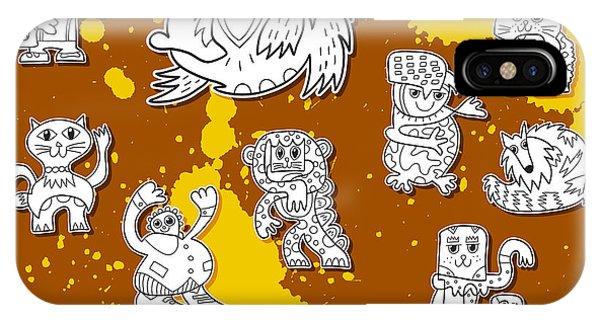Street Art Doodle Creatures Urban Art IPhone Case