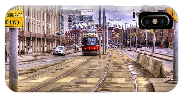 Street Car On Lakeshore IPhone Case
