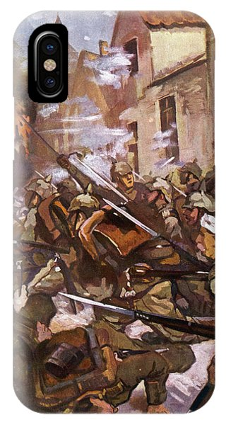 Street Fighting In A French  Village Phone Case by Mary Evans Picture Library