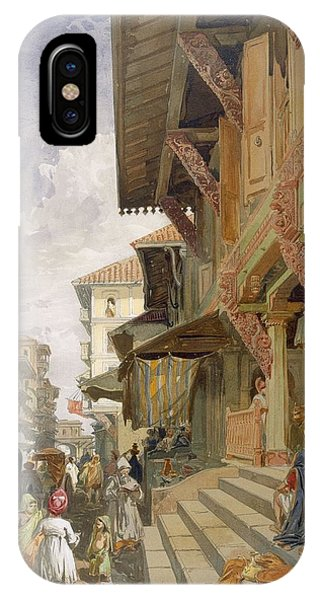 British Empire iPhone Case - Street In Bombay, From India Ancient by William 'Crimea' Simpson