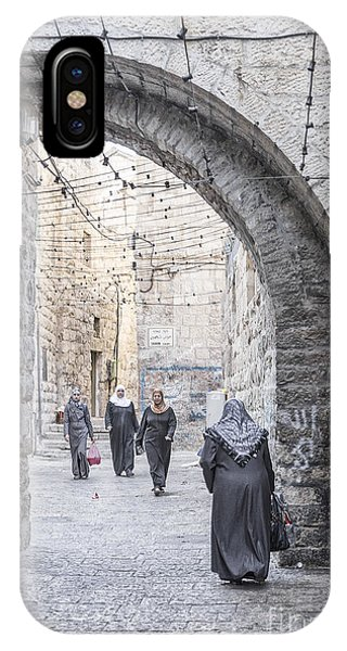 Street In Jerusalem Old Town Israel IPhone Case