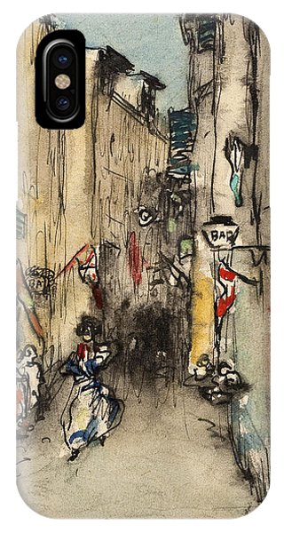 Impressionistic iPhone Case - Street In Marseille by Ricard Canals