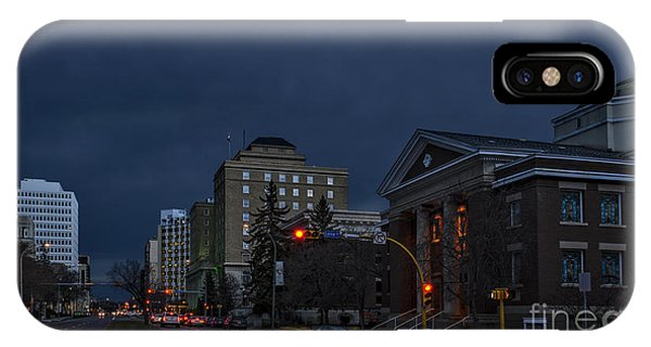 iPhone Case - Night Street In Regina by Viktor Birkus