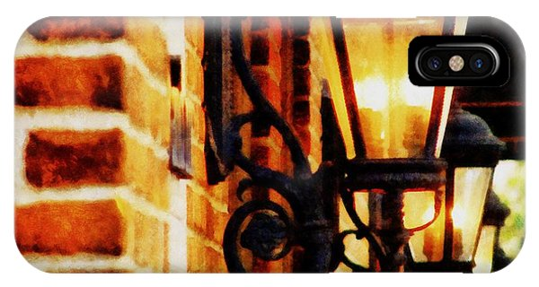 Michelle iPhone Case - Street Lamps In Olde Town by Michelle Calkins