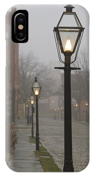 Street Lamps On Johnny Cake Hill IPhone Case