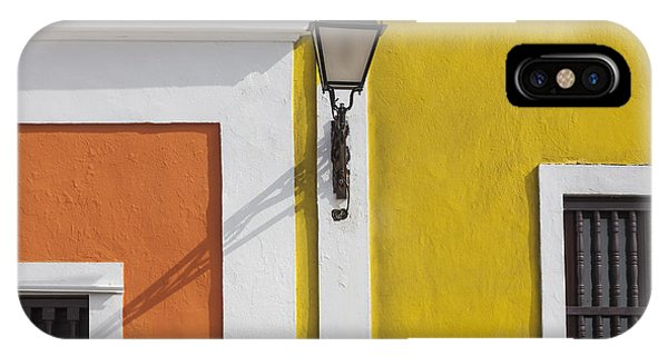 IPhone Case featuring the photograph Street Light In Old San Juan Streetlight Puerto Rico by Bryan Mullennix