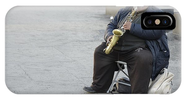 Street Musician - The Gypsy Saxophonist 3 IPhone Case