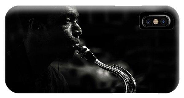 Street Saxophone Musician IPhone Case