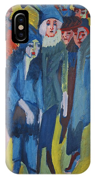 Blue Dress iPhone Case - Street Scene by Ernst Ludwig Kirchner
