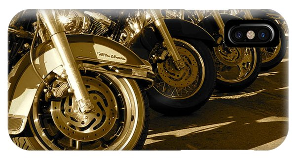 Street Vibrations Sepia Phone Case by Vinnie Oakes