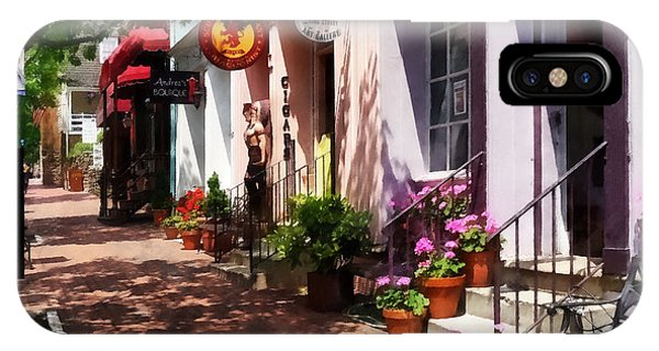 Alexandria Va - Street With Art Gallery And Tobacconist IPhone Case