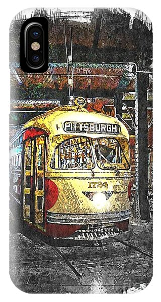 Pittsburgh Streetcar 1724 IPhone Case