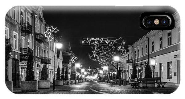 Streets Before Christmas IPhone Case