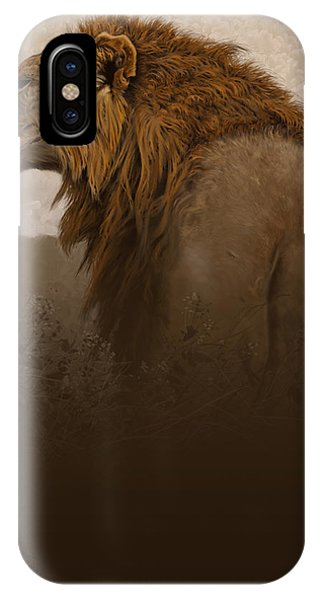 Lions iPhone Case - Strength by Aaron Blaise