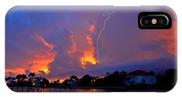 Strike Up The Middle At Sunset IPhone Case