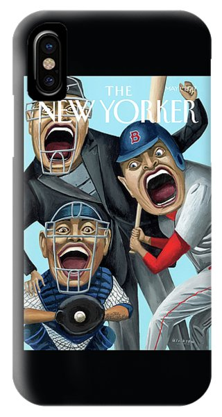 Red Sox iPhone Case - Strike Zone by Mark Ulriksen