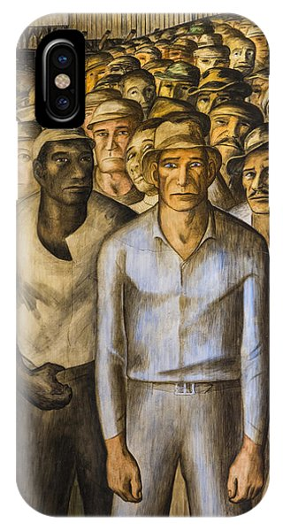 West Bay iPhone Case - Striking Miners Mural In Coit Tower by Adam Romanowicz