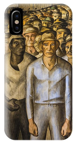 Striking Miners Mural In Coit Tower IPhone Case