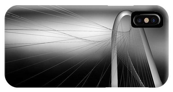 Bridge iPhone Case - String Bridge by Antonyus Bunjamin (abe)