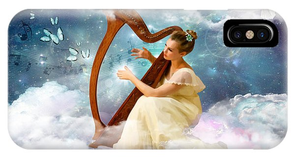 Harp iPhone Case - Strings Of My Heart by Dolores Develde
