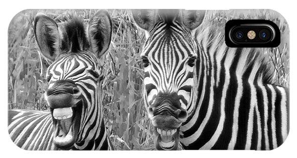 Striped Donkeys Zebra Chapman's Race Phone Case by Jonathan Whichard