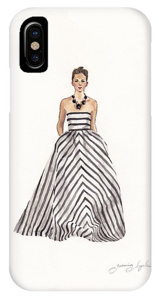 Elegant iPhone Case - Striped Glamour by Jazmin Angeles