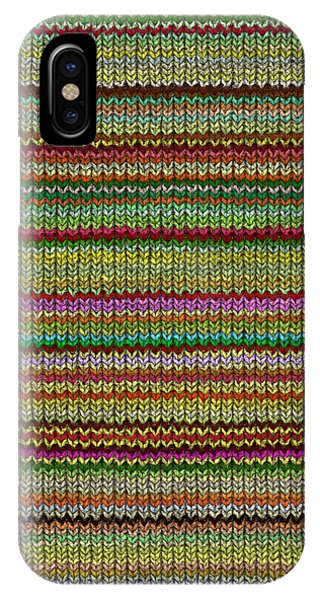 Striped Knit Fabric IPhone Case