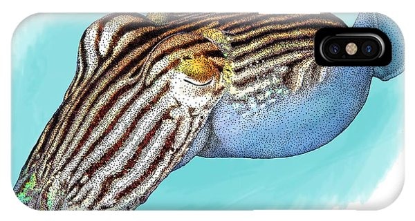 Pajama iPhone X Case - Striped Pyjama Squid by Roger Hall