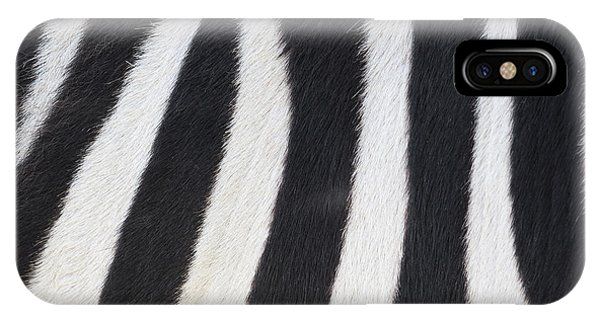 IPhone Case featuring the photograph Stripes On Zebra by Bryan Mullennix