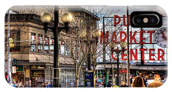 Strolling Towards The Market - Seattle Washington IPhone Case